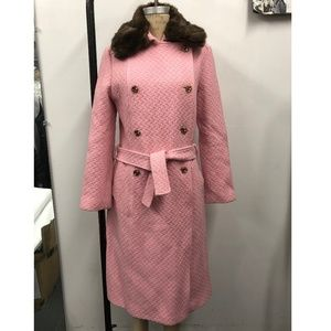 Textured Pink Pea coat